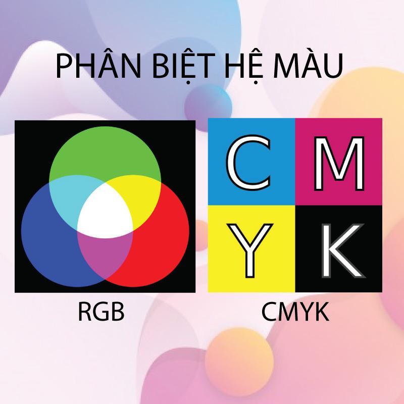 Phân biệt hệ màu CMYK, RGB