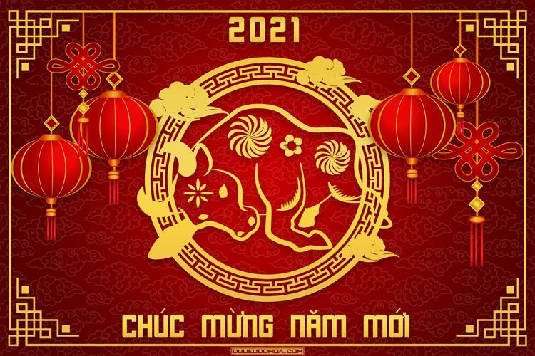 Download miễn phí vector Trâu vàng Tết Tân Sửu 2021