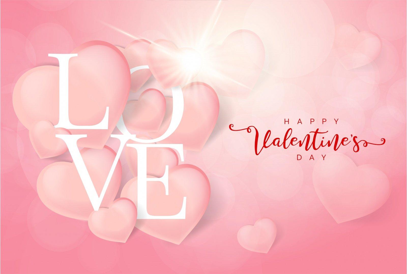 vector background valentine trai tim dep
