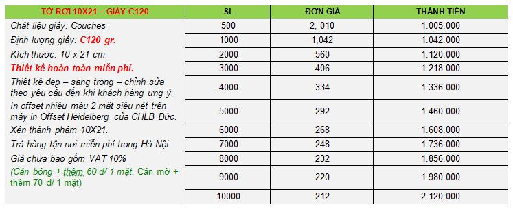 báo giá dịch vụ in ấn 2015, in tờ rơi 10x21-2