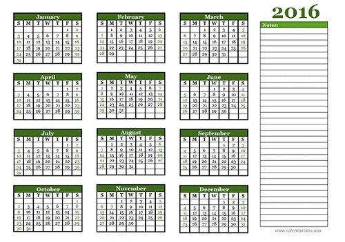 mẫu lịch 2016 file word-2