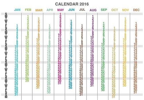 mẫu lịch 1 tờ 2016-21